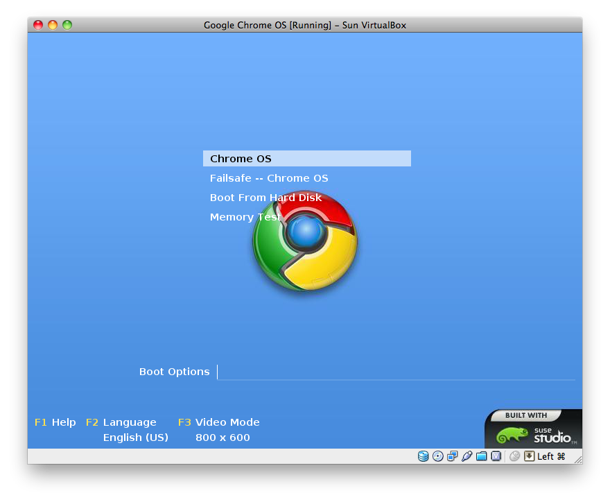 Google Chrome OS Installation - Step 9